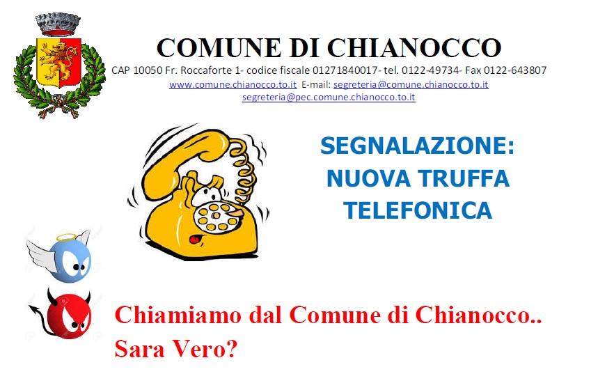 SEGNALAZIONE TRUFFA TELEFONICA