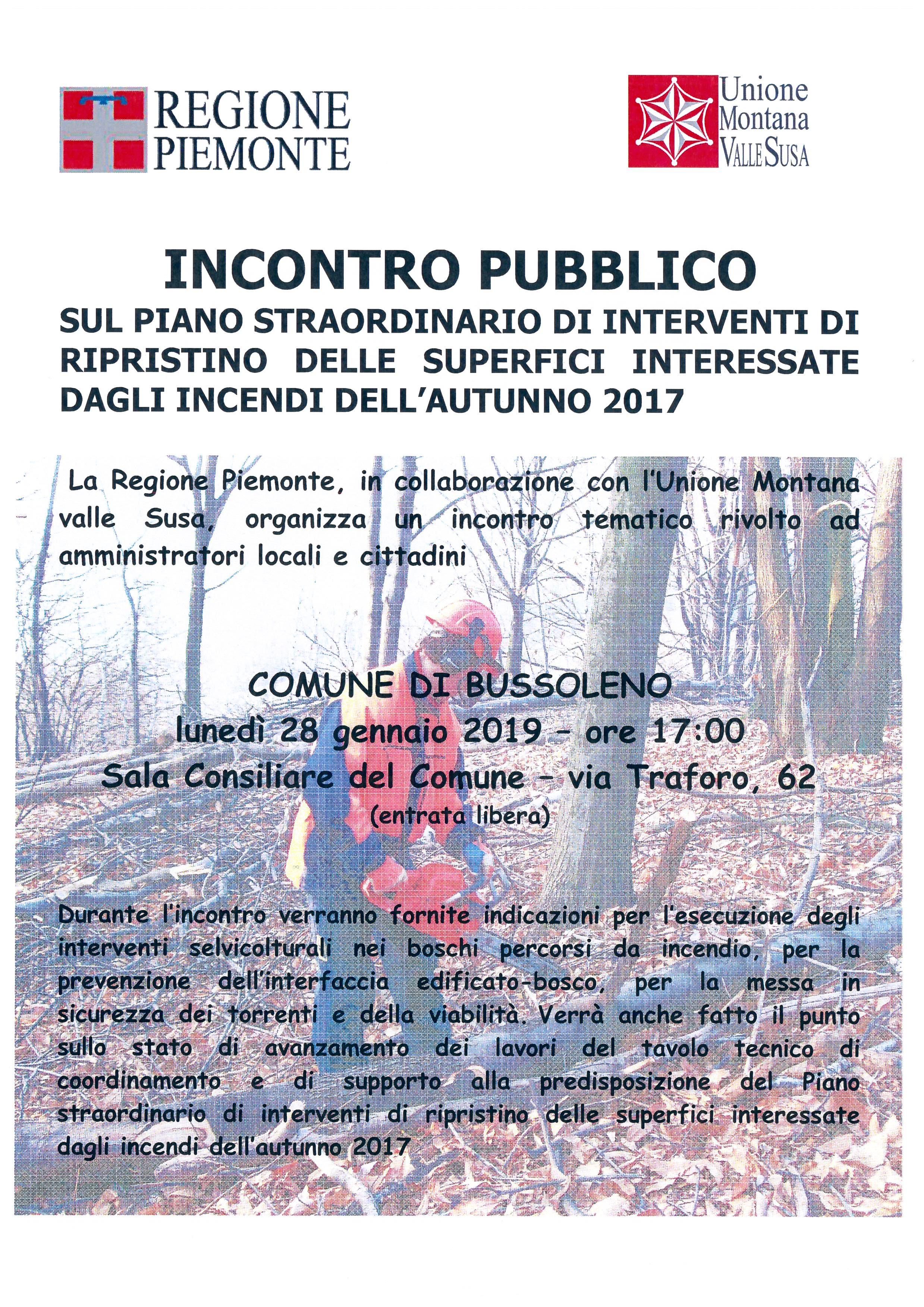 INCONTRO PUBBLICO – 28/01/2019