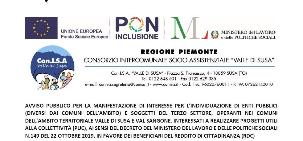 Manifestazione di interesse a presentare progetti di impiego dei beneficiari di Reddito di Cittadinanza
